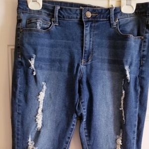 JustFab distress jeans. Excellent condition.